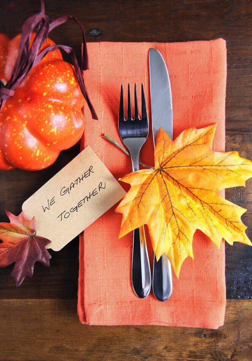 Place mat setting with fall decor