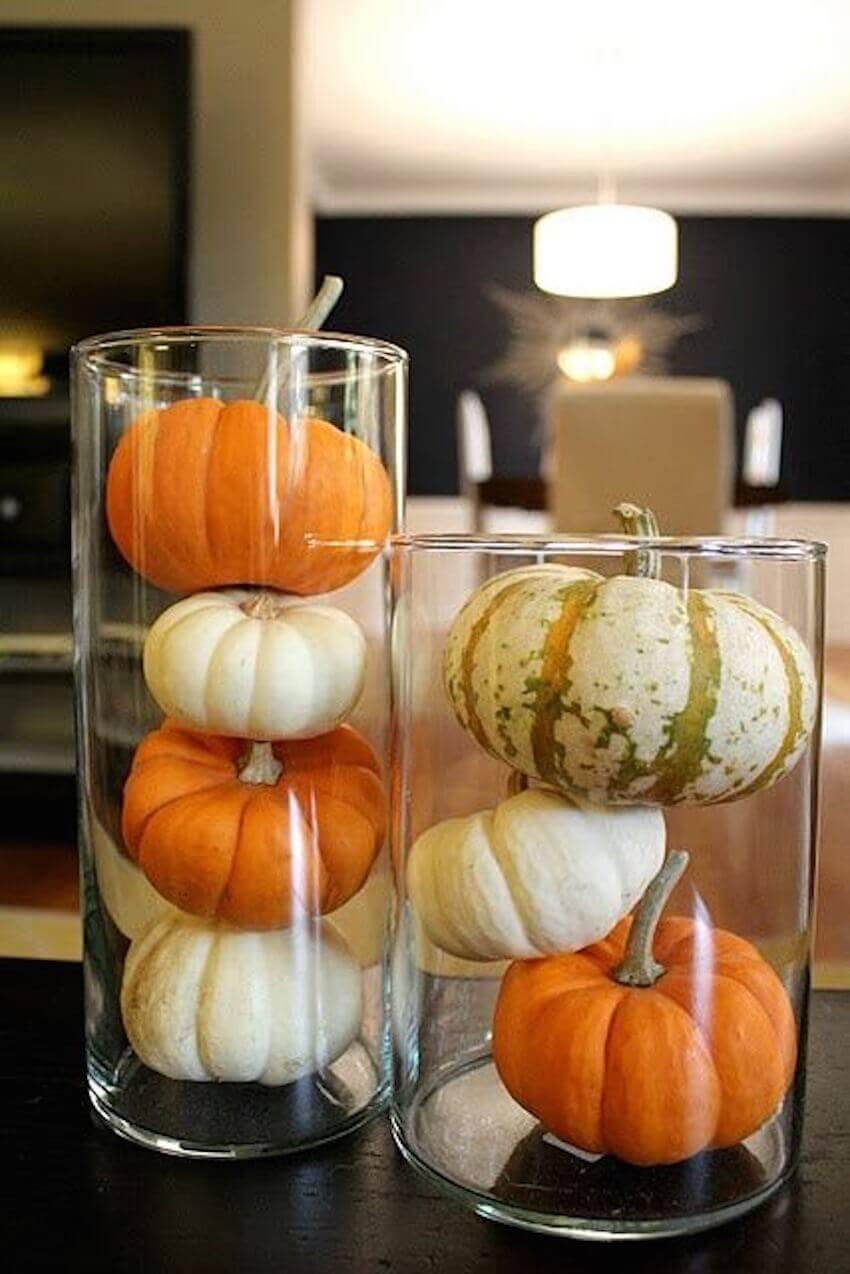 Pumpkin glass displays