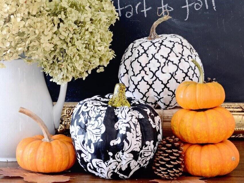 Beautiful custom designed pumpkins