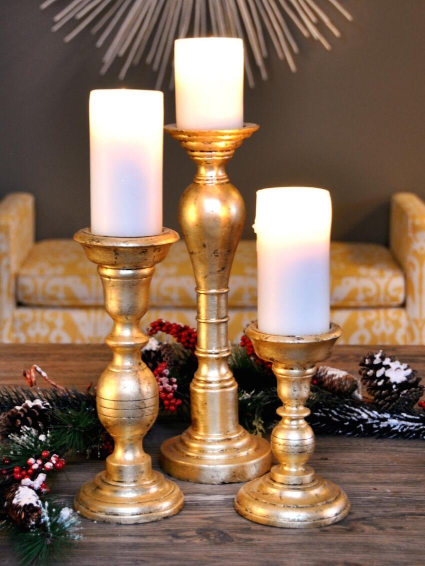Candles as seasonal decor