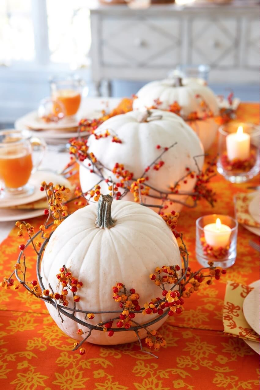 Dining room table decor for the season