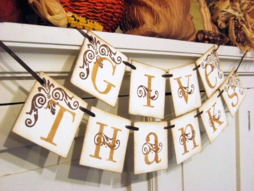 Hang up a garland sign for this season