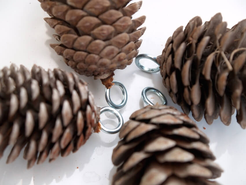 Pine cone decorations to hang anywhere