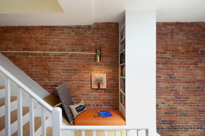 Perfect little staircase sanctuary for reading