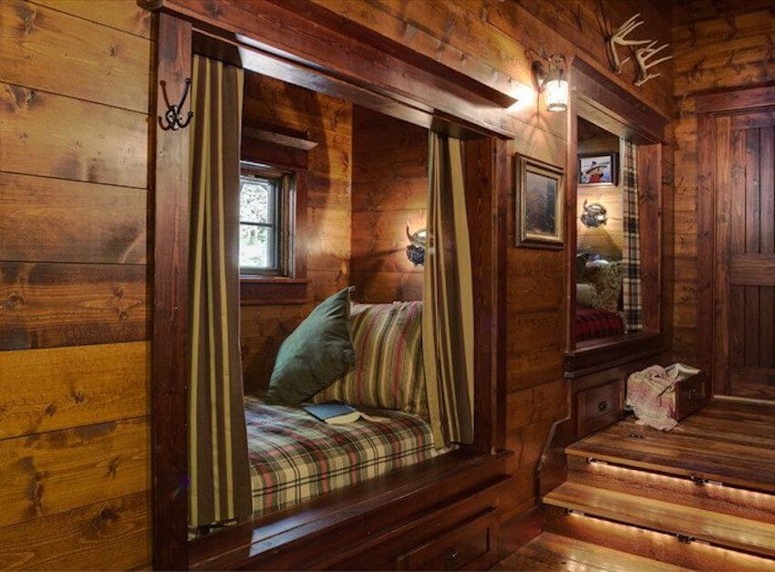 Rustic all wooden nook for a home
