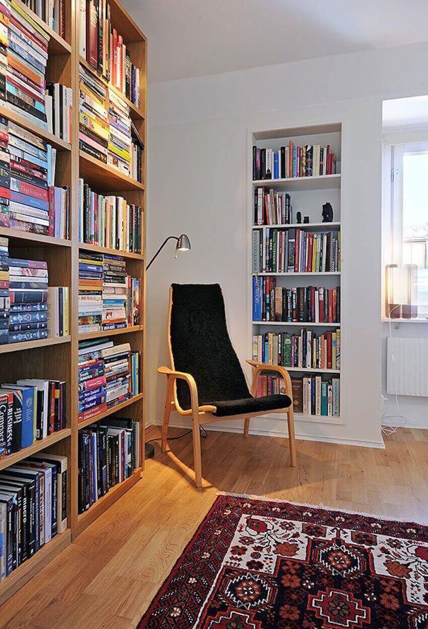 Built in bookshelves for the perfect den