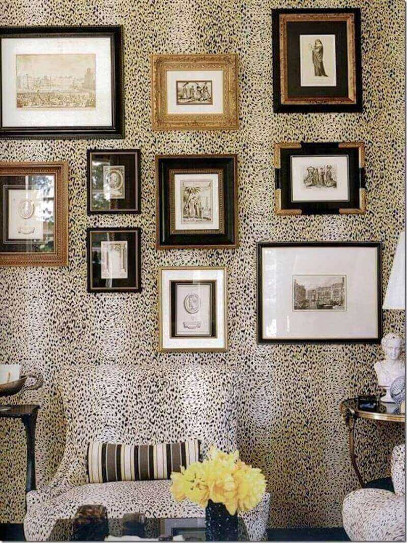 Leopard print theme for your home's interior walls and furniture