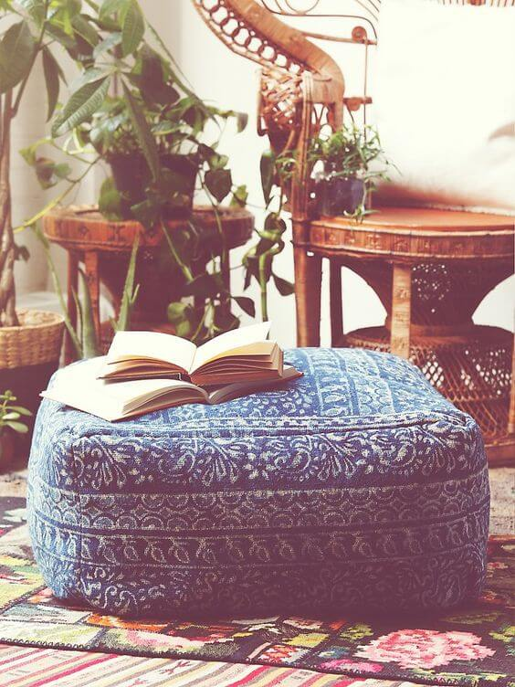 A pouf is an excellent seating choice if you love to get lost in a book for hours on end.
