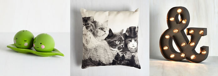 Buy home decor at ModCloth for vintage pieces and retro style clothing