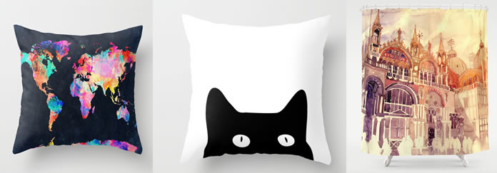 Pillows with maps, memes, pop art and everything you can imagine for you house