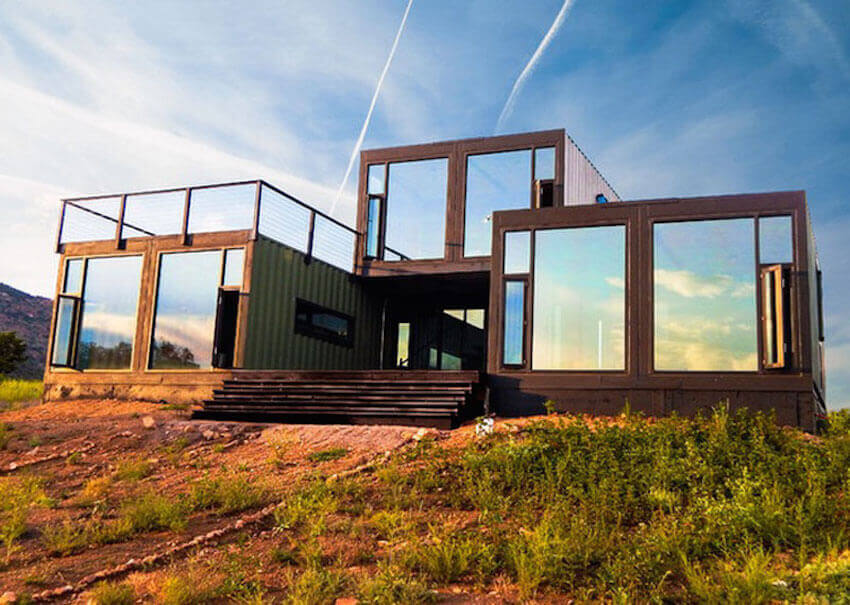 Custom made housing units crafted from shipping containers