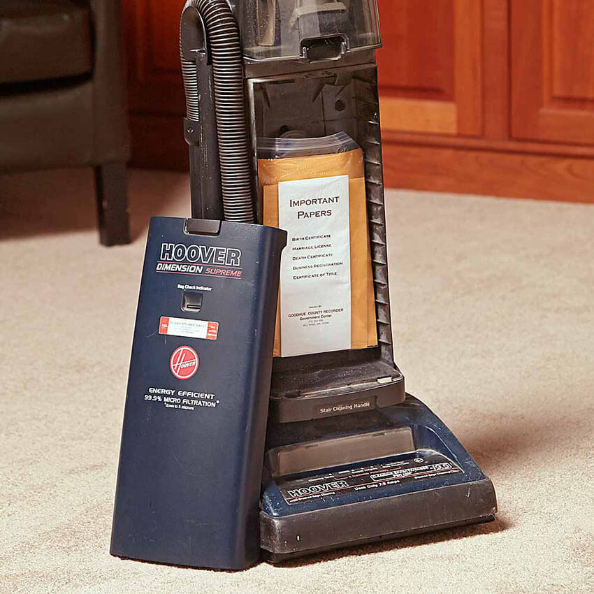 A short term solution: hide it in the vacuum appliance