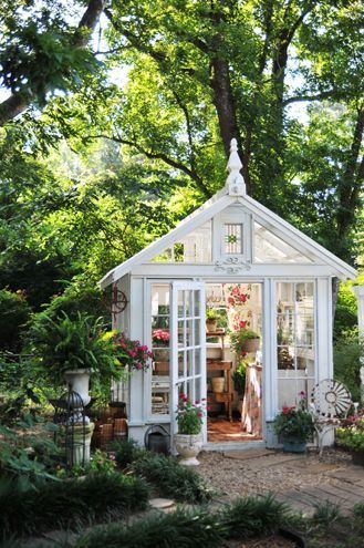 This she shed is perfect for a green thumb!