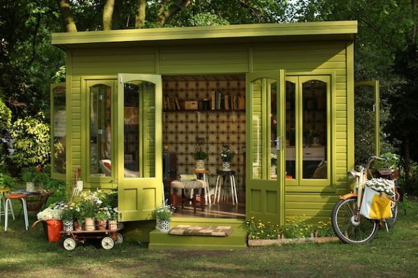"Man Caves Meet Their Match: The 14 Most Breathtaking ""She Shed"" Designs"