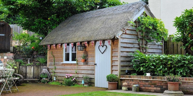 A British-inspired she shed fit for a queen!