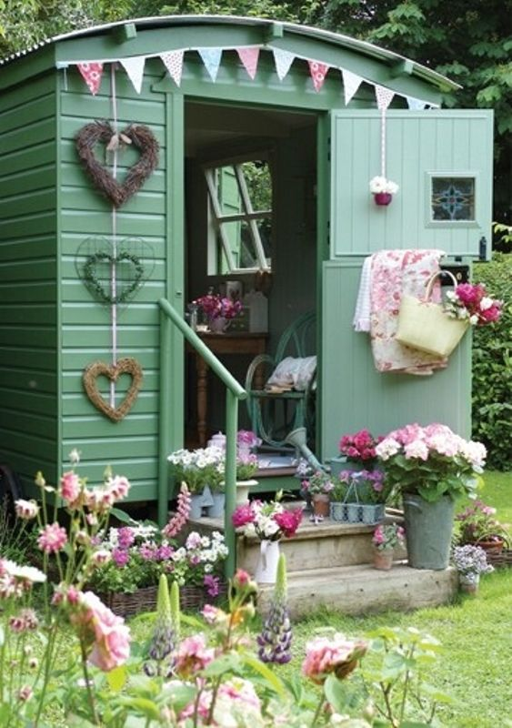 She sheds can be as simple or as extravagant as you want.