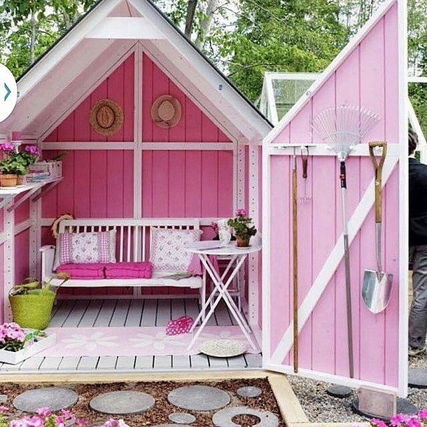 This she shed is fit for a princess!