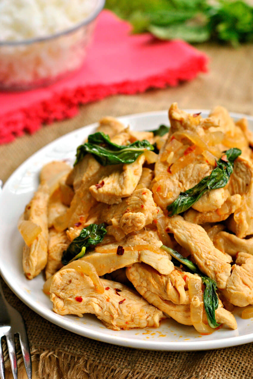 If you're looking for a flavor-packed, quick meal tonight, try this Thai Basil Chicken!