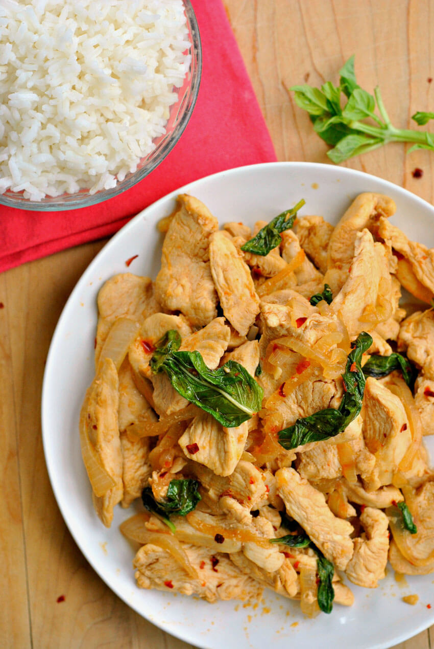 You need to try this delicious Thai Basil Chicken!