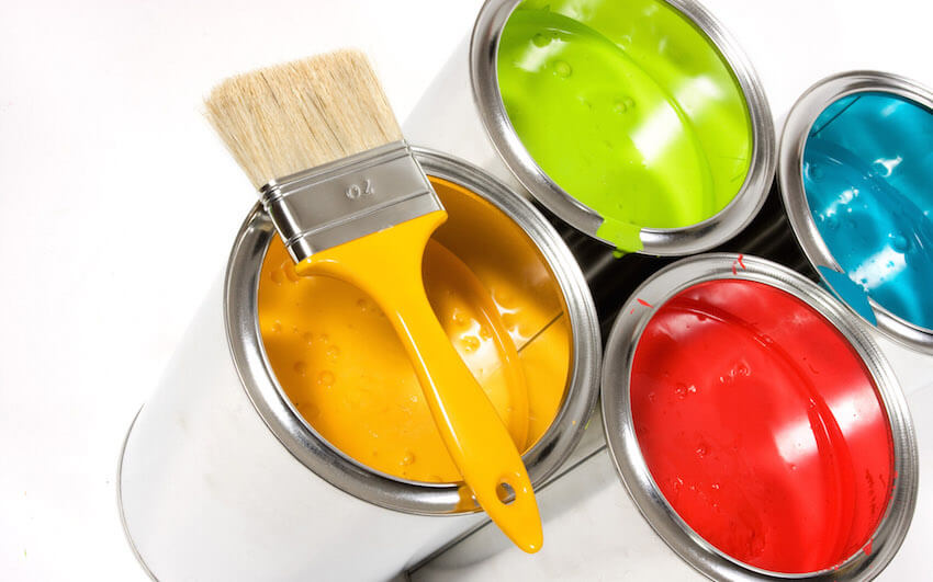 Certain paints can also affect air quality