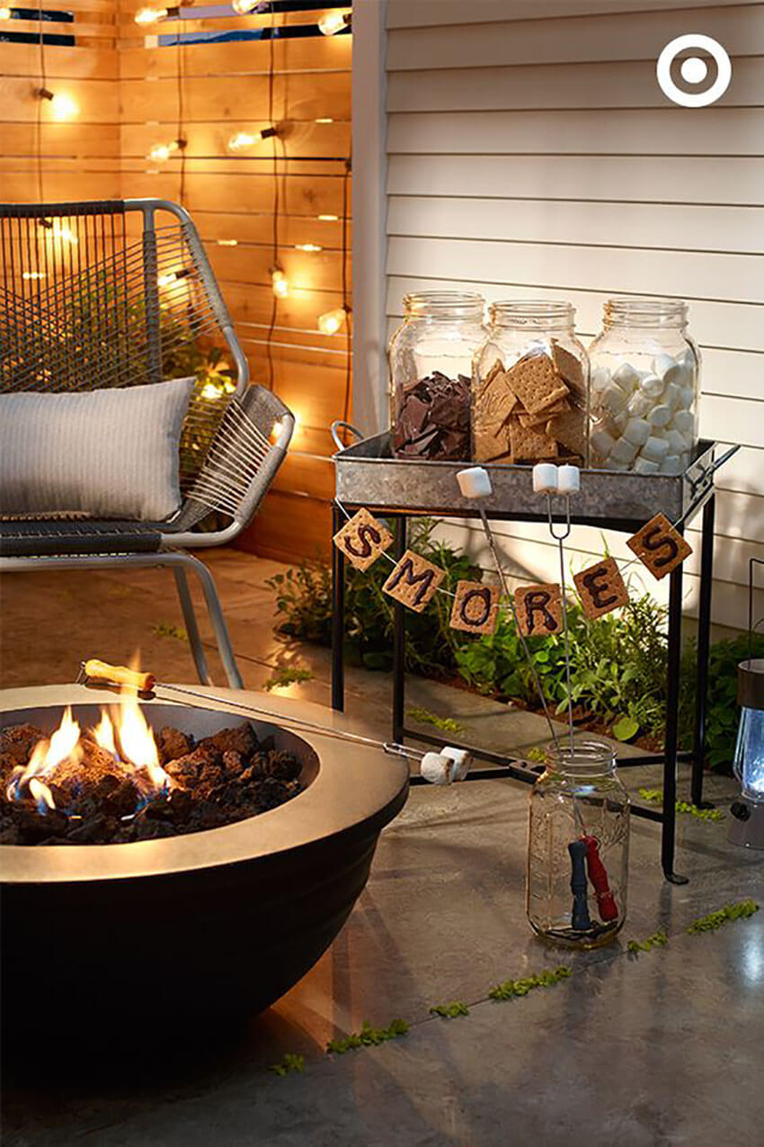 A S'mores Bar is a great addition to any event or party.