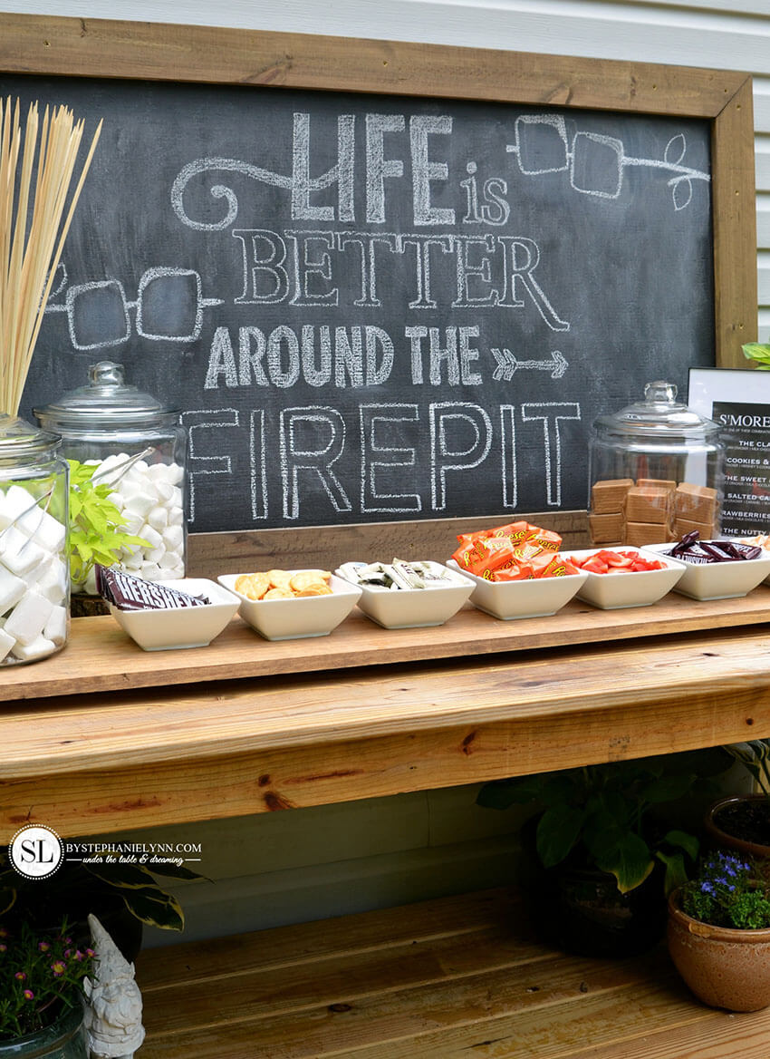 Get creative and offer your guests a variety of options to assembly s'mores.