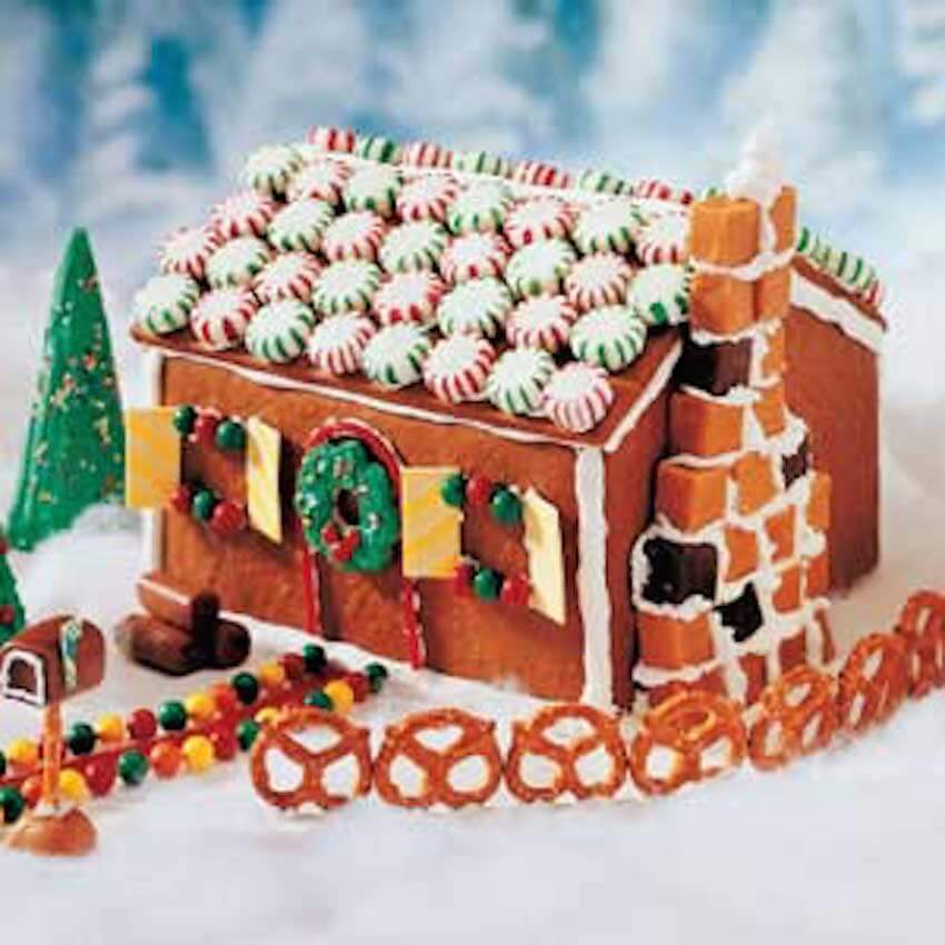 Who can forget the timeless classic tradition of making a gingerbread house?