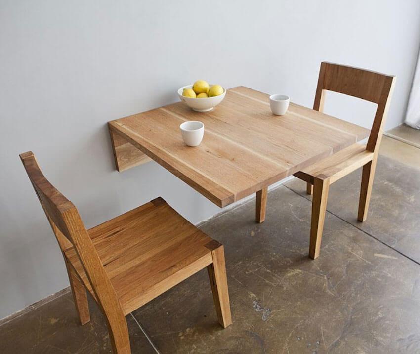 Minimalist dining room table interior wall