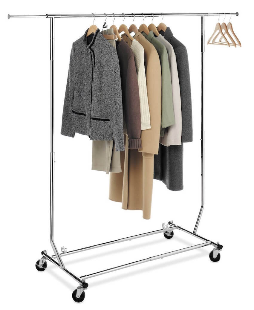 Mobile clothes rack save a great deal of room