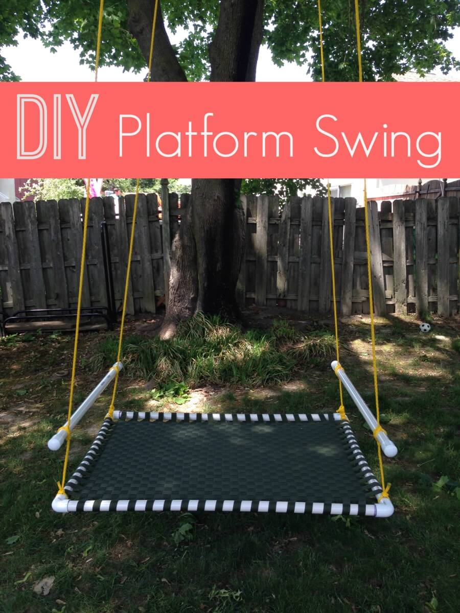 Enjoy this DIY backyard swing set for your home