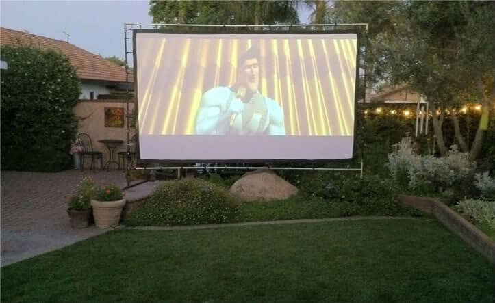 Your own home backyard theater system.