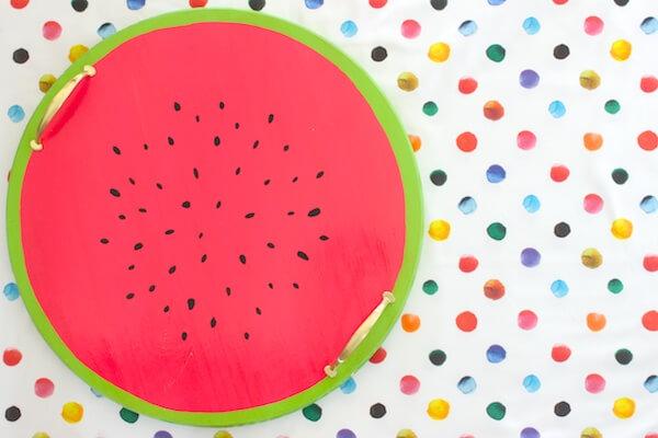 Watermelon DIY serving tray decor for your exterior backyard