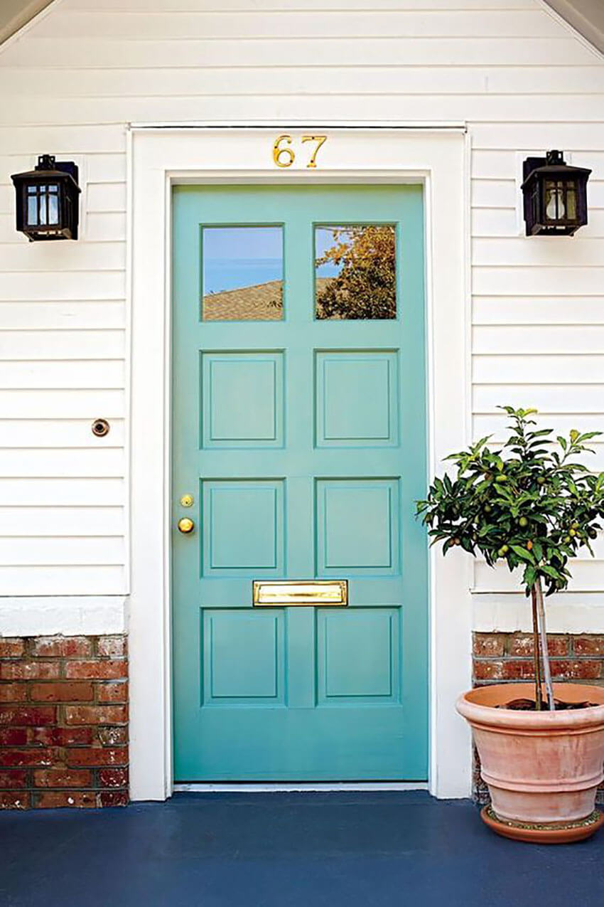 Give your front door a boost by repainting it.