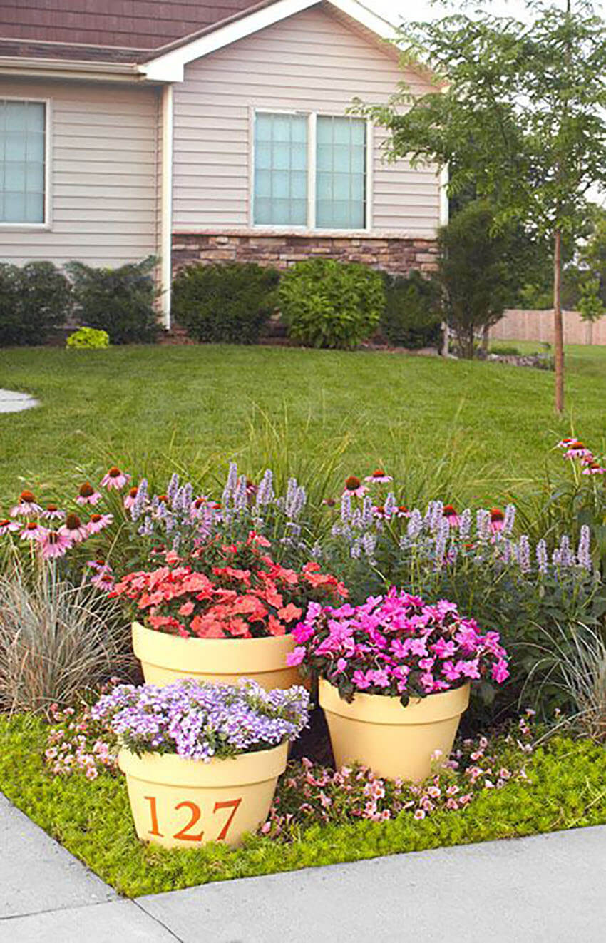 Add colorful flowers and take care of the lawn to raise curb appeal.