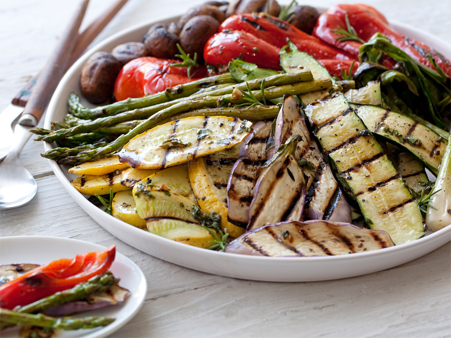 Summer vegetables are great when grilled and served as a side dish.