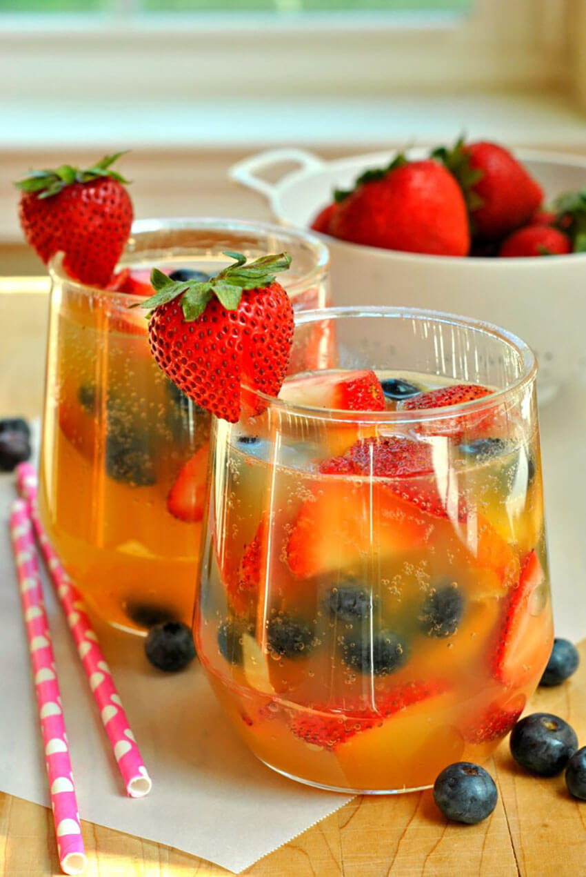 A fruity sangria is a must for nice summer day.