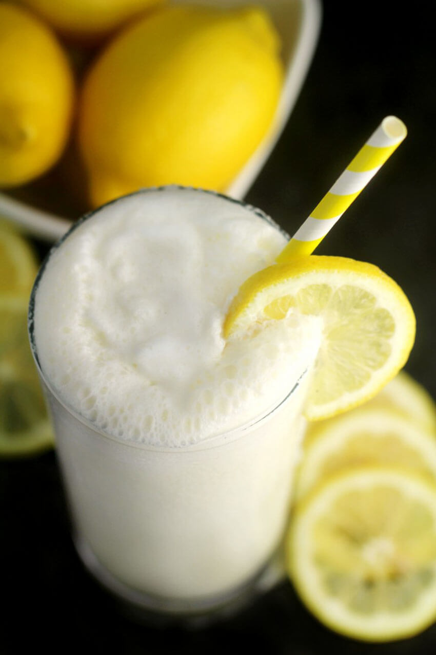 This frosted lemonade will surely impress the guests!