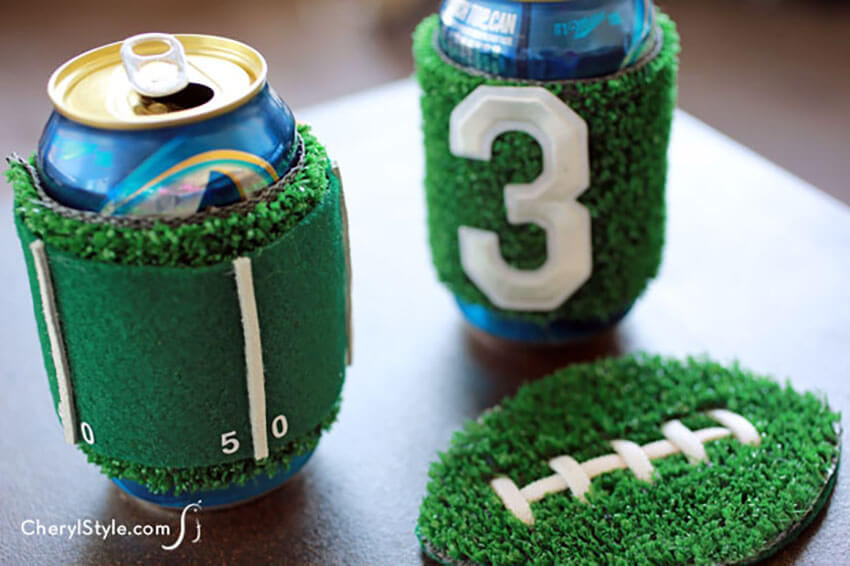 Awesome koozies are a great idea to add more fun to the party!