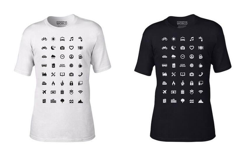 T-shirts that help communication via