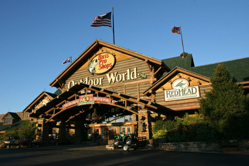 Bass Pro is open, too. Image Source: Bass Pro