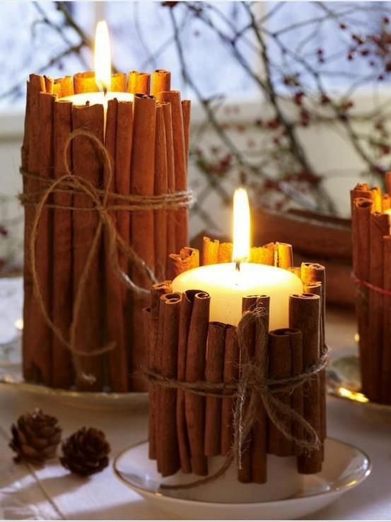 Add some festive decorations to your candles for an added level of warmth.