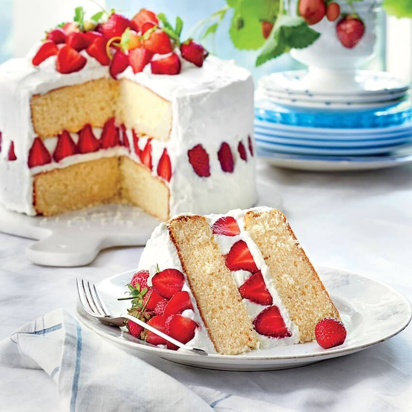 This strawberry dream cake is sure to be a delicious treat for your next summer get-together