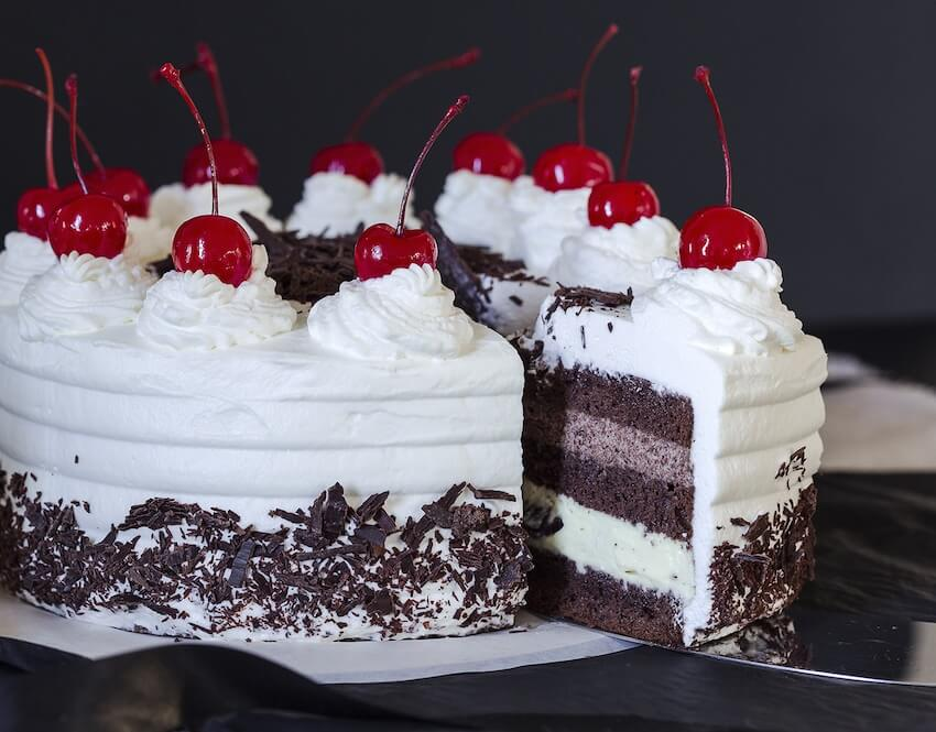 While technically not a berry, cherries are great this time of year and you can use them to create an incredible black forest cake!