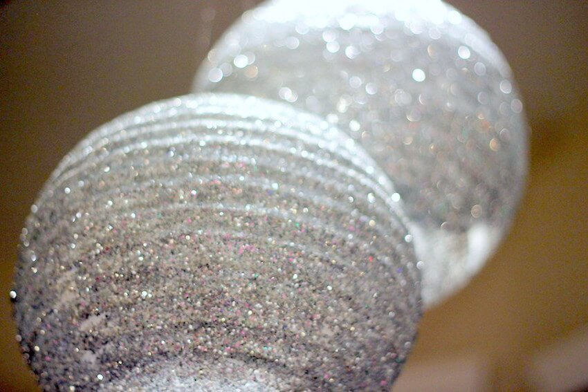 Glitter lanterns are the classy way to go for a ball drop