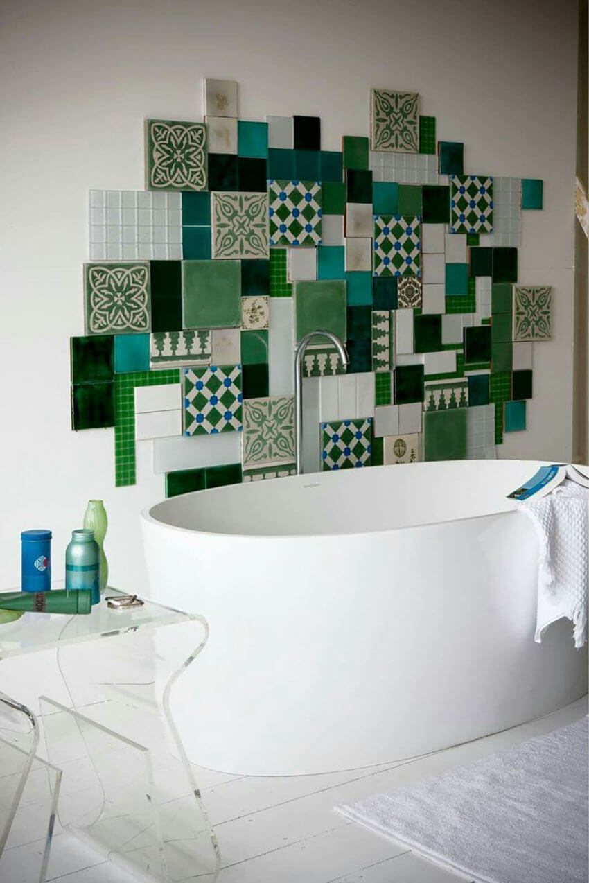 A mural is a great way to add an interesting focal point to a room.