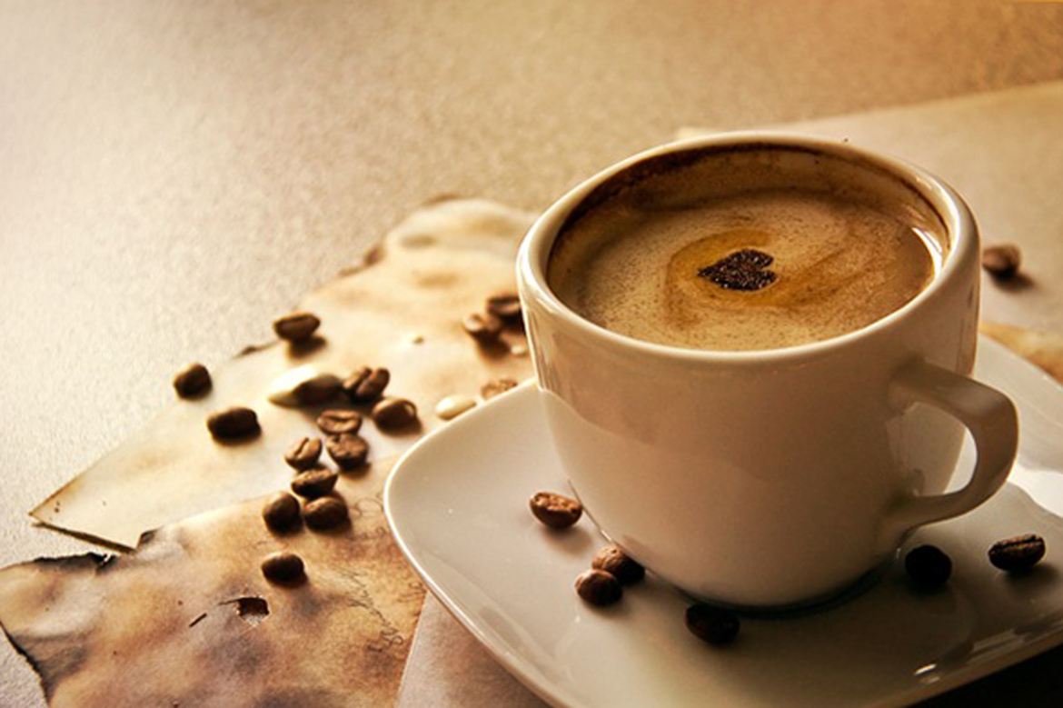 Learn how to make a chocolate heart in his or her coffee using powdered cocoa. Image Source: Super Foods RX
