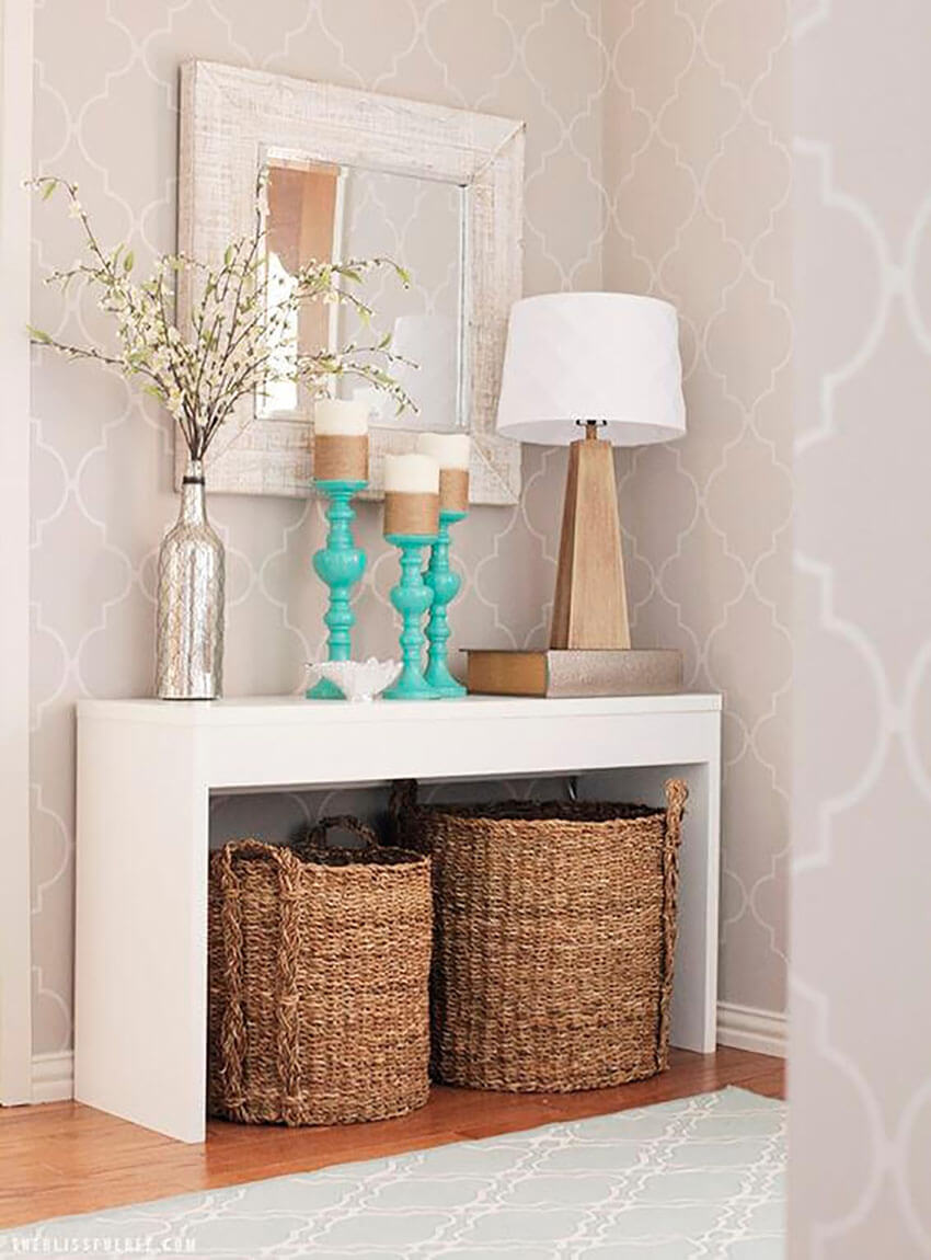 Add storage to make the entry more practical and time-saver.