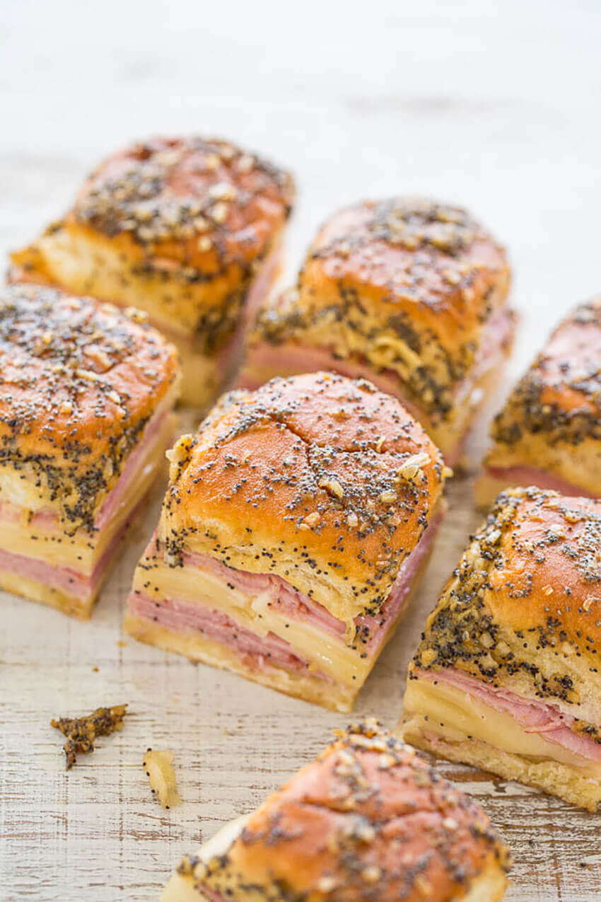 This ham and cheese sliders recipe is a guaranteed success.