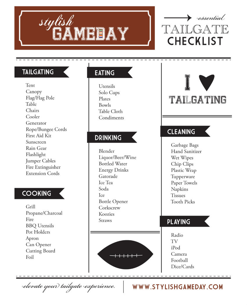 No matter how expert you may be. A good checklist can always improve the outcomes. Image Source: Stylish Game Day