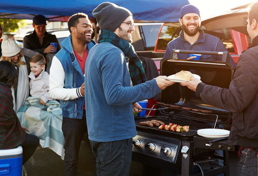 Tailgaters spend about $20 billion in food and supplies a year. Image Source: Pampered Chef